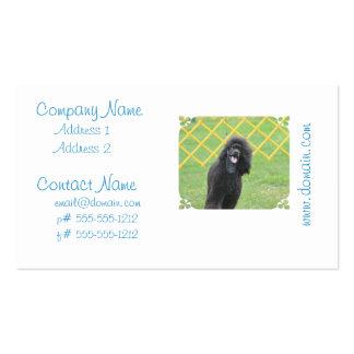 Schwarzer Pudel Visitenkartenvorlage
