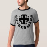 Schwarzer QuerT - Shirt Bundeswehrs Kreuz Schwarz