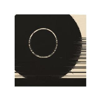 schwarzer Ring Holzleinwand