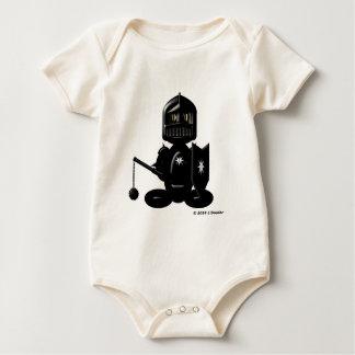 Schwarzer Ritter (einfach) Baby Strampler