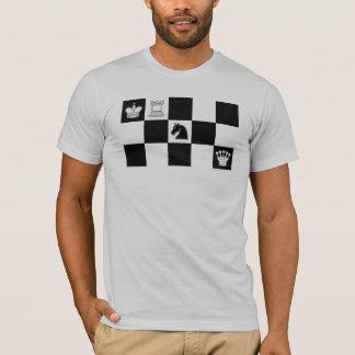 Schwarzer Ritter-Karo T-Shirt
