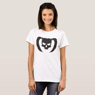 Schwarzer Schädel mit Zöpfen T-Shirt