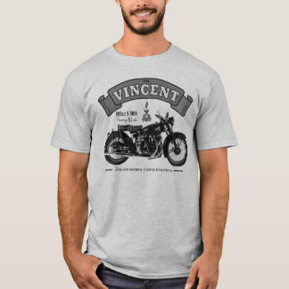 Schwarzer Schatten-klassisches Motorrad-T-Shirt T-Shirt