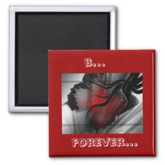 schwarzer Schmetterling b… für immer… Quadratischer Magnet
