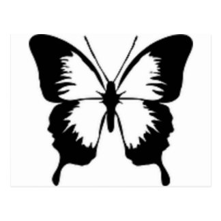 Schwarzer Schmetterling Postkarte
