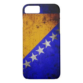 Schwarzer Schmutz Bosnien und Herzegowina iPhone 8/7 Hülle