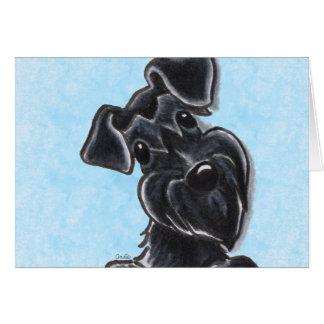 Schwarzer Schnauzer-natürliche Ohren Karte