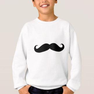 Schwarzer Schnurrbart oder schwarzer Schnurrbart Sweatshirt