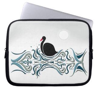 Schwarzer Schwan Laptopschutzhülle