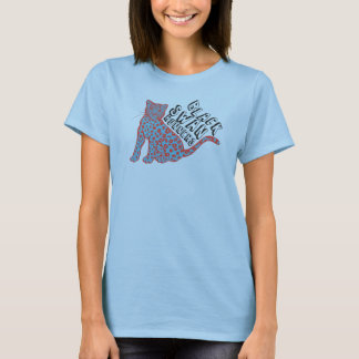 Schwarzer Schwan-Läufer Grrrr (Meow) Baby - Puppe T-Shirt