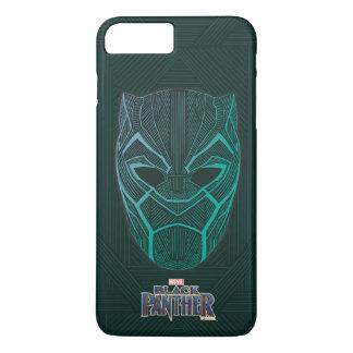 Schwarzer schwarzer Panther des Panther-  ätzte iPhone 8 Plus/7 Plus Hülle