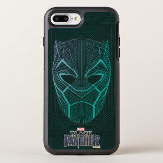 Schwarzer schwarzer Panther des Panther-  ätzte OtterBox Symmetry iPhone 8 Plus/7 Plus Hülle