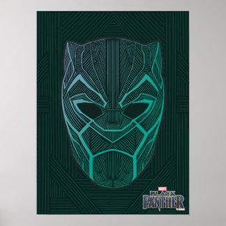 Schwarzer schwarzer Panther des Panther-| ätzte Poster