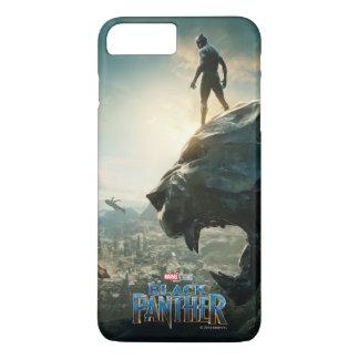 Schwarzer schwarzer Panther des Panther-  stehend iPhone 8 Plus/7 Plus Hülle