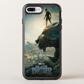 Schwarzer schwarzer Panther des Panther-  stehend OtterBox Symmetry iPhone 8 Plus/7 Plus Hülle