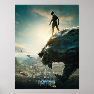 Schwarzer schwarzer Panther des Panther-| stehend Poster