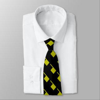 Schwarzer Senf-Gelb-Mod 4Keith Bedruckte Krawatten