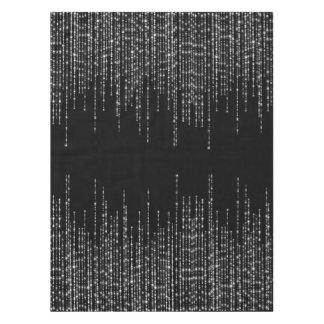 Schwarzer silberner Strangschein formal Tischdecke
