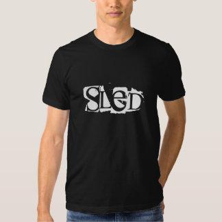 """Schwarzer Sledders.com-T - Shirt """"des SCHLITTENS"""""""