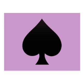 Schwarzer Spaten - Karten Anzug, Poker, Stange