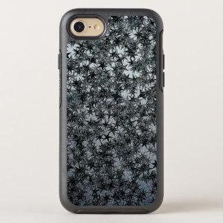 Schwarzer StahlNinja werfender Stern-metallischer OtterBox Symmetry iPhone 8/7 Hülle