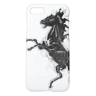 Schwarzer Steed iPhone 8/7 Hülle