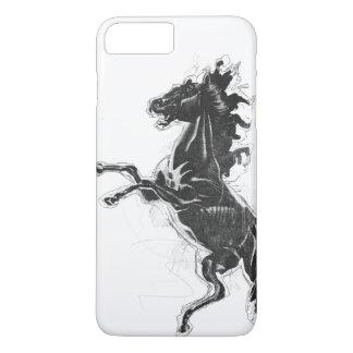 Schwarzer Steed iPhone 8 Plus/7 Plus Hülle