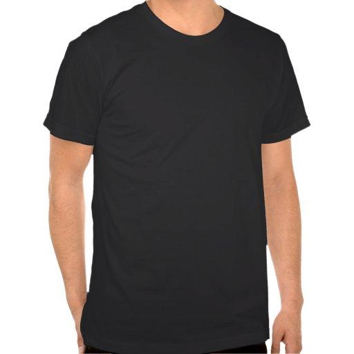 Schwarzer Stern auf farbigem Streifen-T - Shirt