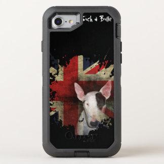 Schwarzer Stier-Terrier-Gewerkschafts-Jack OtterBox Defender iPhone 8/7 Hülle