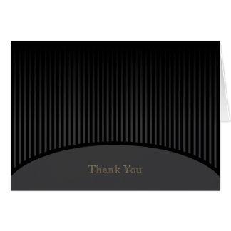 Schwarzer Streifen danken Ihnen zu kardieren Grußkarten