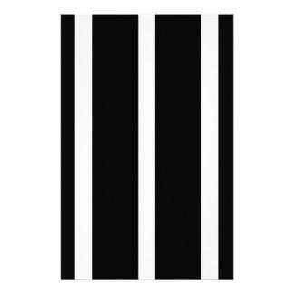 Schwarzer Streifen mit Weiß Briefpapier