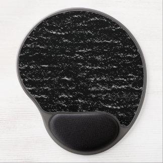Schwarzer strukturierter Entwurf Gel Mousepad