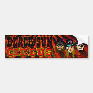 Schwarzer Sun-Zirkus-Autoaufkleber Autoaufkleber