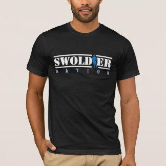 Schwarzer Swoldier Nations-T - Shirt