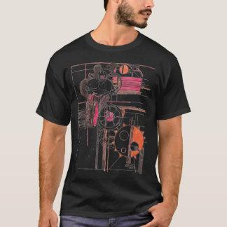 Schwarzer T - Shirt des Motocross