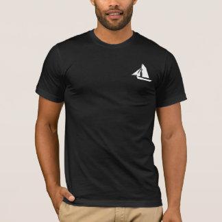 Schwarzer T - Shirt Kapitän-Sailor Name Template