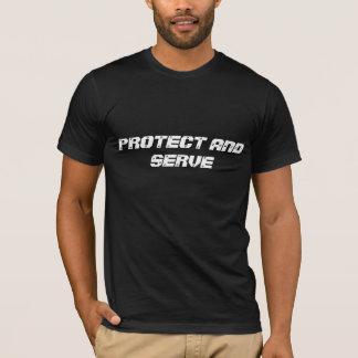 """Schwarzer T - Shirt """"schützen sich und dienen """""""