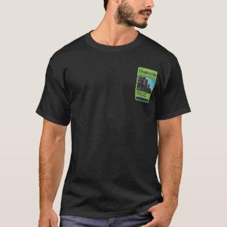 Schwarzer T-Stück Hogansville Turm-Hinteraufkleber T-Shirt