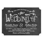 Schwarzer Tafel-Charme der Hochzeits-Einladungs-| 12,7 X 17,8 Cm Einladungskarte
