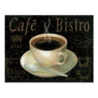 Schwarzer Tasse Kaffee Postkarte