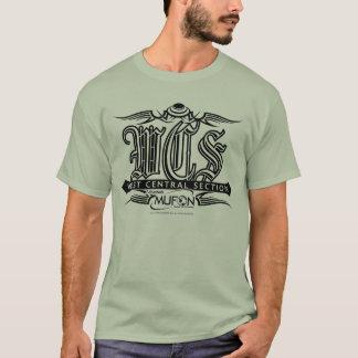 Schwarzer Tätowierungsentwurf Arkansas Mufon WCS T-Shirt