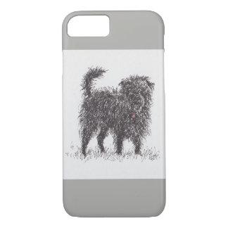 Schwarzer Terrier-Telefonkasten iPhone 8/7 Hülle