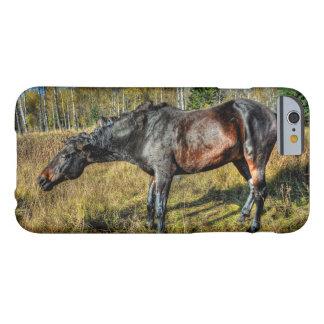Schwarzer Thoroughbred Percheron, das weg vom Barely There iPhone 6 Hülle
