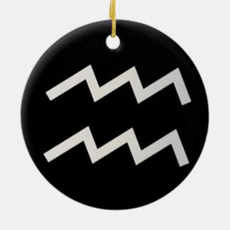 Schwarzer Tierkreis des Wassermann-2 am 20. Januar Keramik Ornament