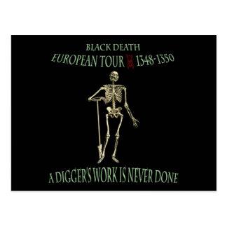 Schwarzer Todesweltausflug-ursprünglicher Entwurf Postkarte