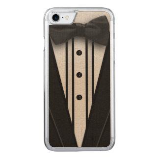 Schwarzer Tuxedo mit Bogen-Krawatte Carved iPhone 8/7 Hülle