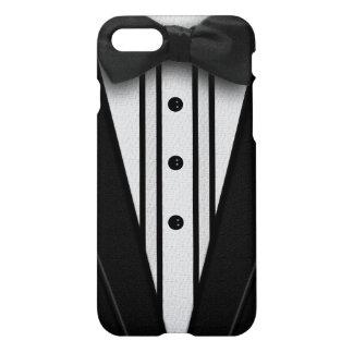 Schwarzer Tuxedo mit Bogen-Krawatte iPhone 8/7 Hülle