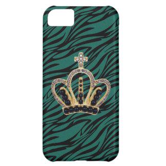 Schwarzer u. blauer Zebra-Prinzessin iPhone 5 iPhone 5C Hülle