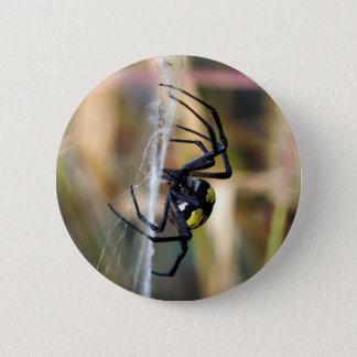 Schwarzer u. gelber Argiope-Garten-Spinnen-Knopf Runder Button 5,7 Cm