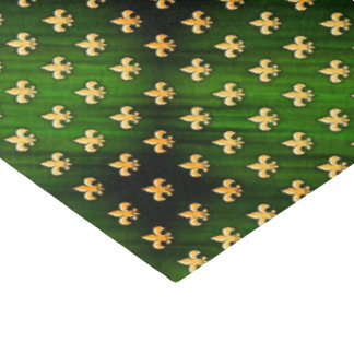 Schwarzer u. grüner Hintergrund mit GoldLilie Seidenpapier